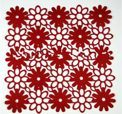 High quality hot sale felt placemat and coaster--B1