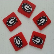 Qingdao new fashion high quality PVC rubber patches embossed rubber label