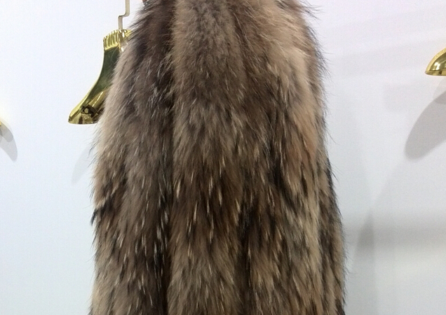 100% handmade Raccoon fur trim/collar for hood