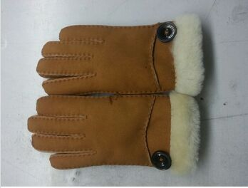 2015 new style Women'S Sheepskin double face Leather Gloves