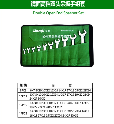 Double Open End Spanner Set