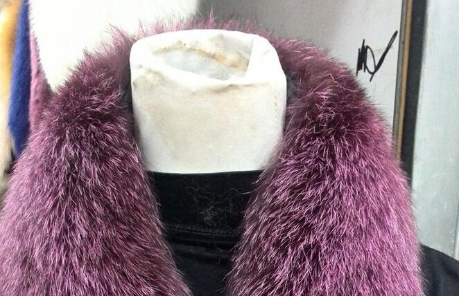 Lantian Fur Natural Large Blue fox Fur Collar / fur Trim for Winter Coat/Parka