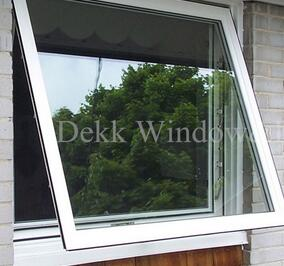 High quality Thermal break Aluminium window/ Aluminium top hung window /awing aluminium window with tempered double pane