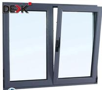 powder coating double glazed tilt and turn aluminium windows/aluminium alloy frame materials window