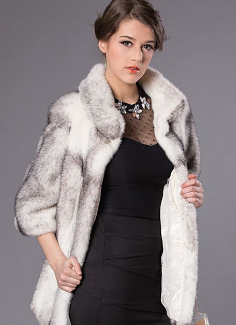 Women' s Genuine Natural Mink Fur Vest / Coat / Outwear for Winter