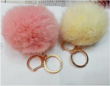 Fashion rabbit fur Ball KeyChain car pendent garment decoration