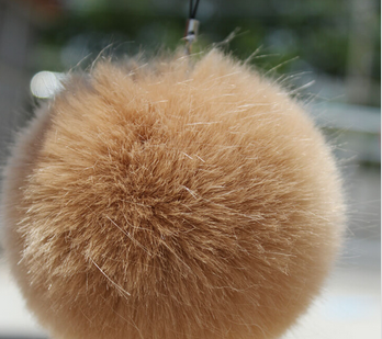 hotsale gifts fake rabbit Fur balls Unisex Keyring 9cm Size Fashion accessories