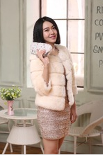 Popular Rabbit Fur Winter Coat / Rabbit Fur Jacket For Women