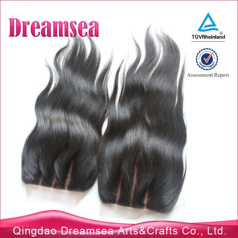 3 part silk base lace closure peruvian silky straight cheap wholesale price natural scalp virgin human hair