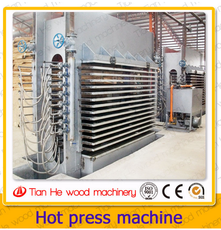 Tianhe plywood hot press machine/400 Tons Hydraulic hot press machine