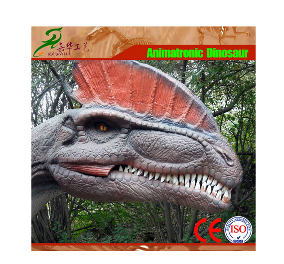 Amusement park animatronic device dinosaur sculpture for sale