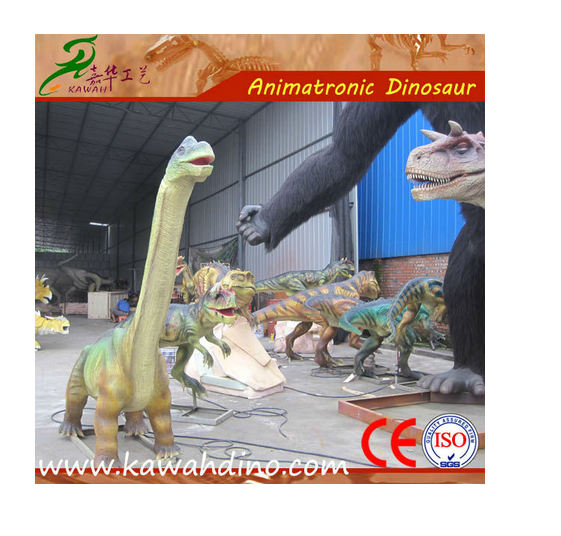 Park facility hand made animatronic dinosaur sculpture statue