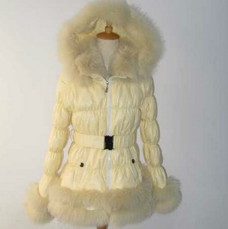 wholesale price down jacket with fur hood