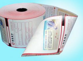 pos terminal bank atm receipt made by thermal till roll