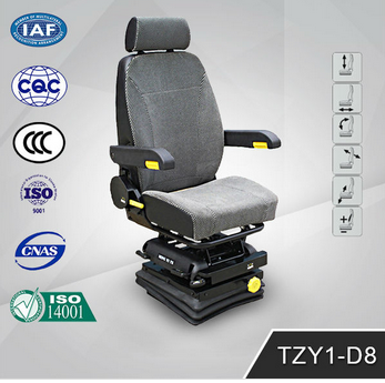 Function Adjustable air suspension Truck Driver Seats TZY1