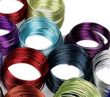HSY colored round aluminum craft wire for DIY decoration/bendable wire for crafts