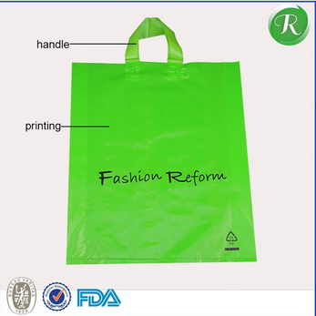 Hdpe printed plastic t-shirt packaging bags for shopping