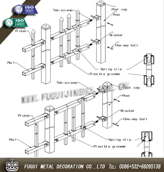 HDG iron fence,steel fence,metal fence