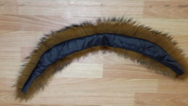 The natural rex rabbit fur collar with highquality and look fashion
