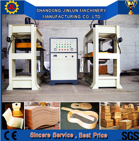 wood bend press machine / curve plywood hot press machine