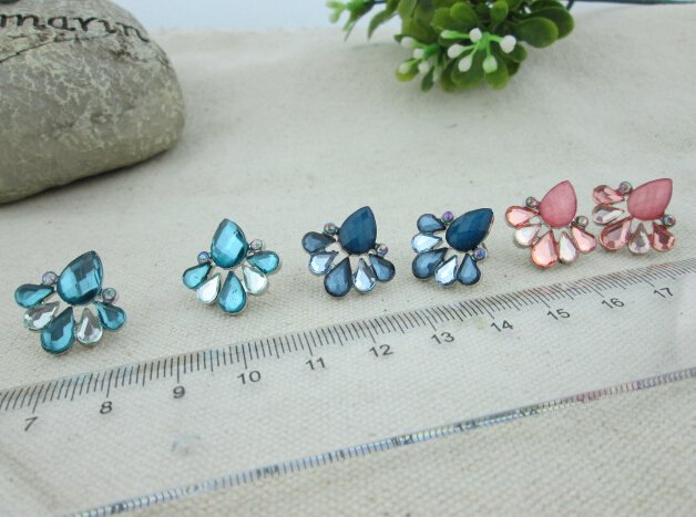 colorful stone hot sale cheap stud earrings