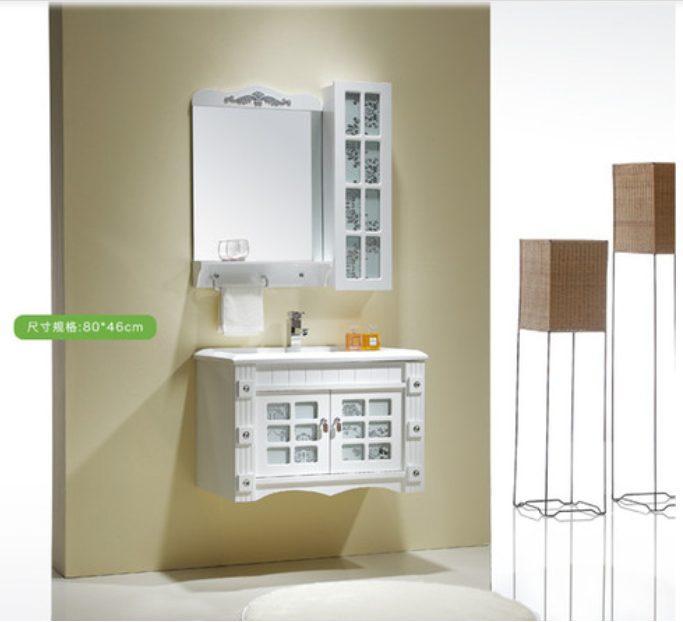 Glass door bathroom cabinet