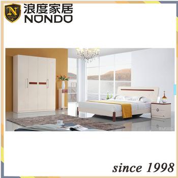 Fashion home furniture design bedroom set MDF bed 5206