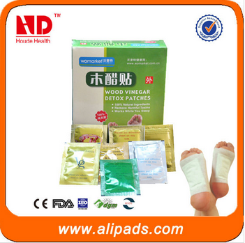 China foot patch manufacturer Bamboo vinegar detox patches