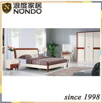Teak wood home furniture king size bed design 5204