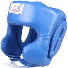 High quality PU leather boxing headgear training face protector martial arts MMA Muay Thai kick head gear Helmet