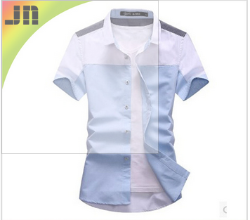 fashion short sleeve men shirt in slim fit