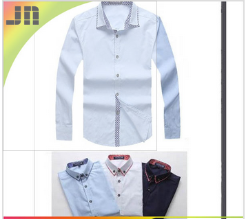 wholesale 100% cotton long sleeve men's shirt