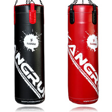 2015wholesale artificial leather heavy duty punching bag training Professional real leather heavybag sandy bag
