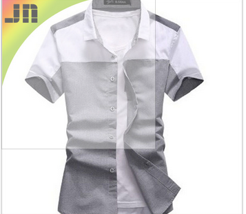 2014 New style men's casual shirt checked and demin shirts