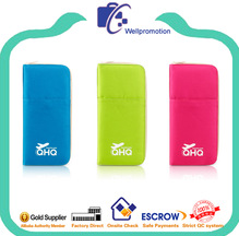 Promotional cute custom branded passport wallet with pen holder