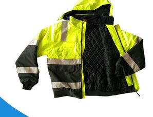 100% polyester worker's reflective strip fluorescent safety jacket