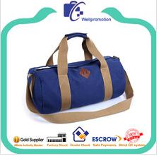 Latest high quality stylish heavy duty canvas barrel duffle bag wholesale