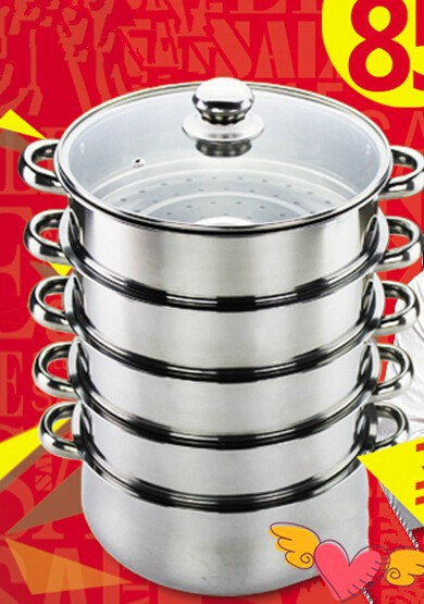 3 layer Stainless steel steamer pot