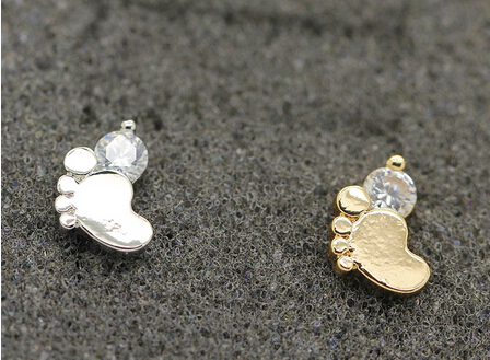 OEM Fashion Women Jewelry Earrings Hot CZ CZ Foot Print Stud Eearrings