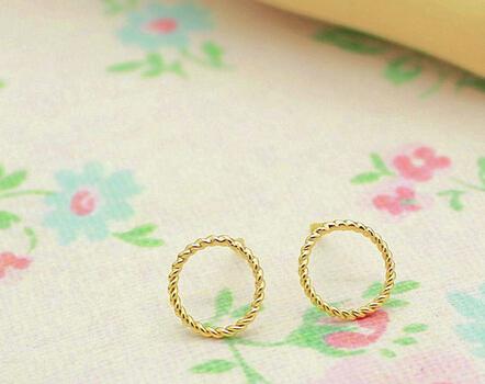 Fashion Women Jewelrys Earrings Hot Simple Brass Circle Earrings
