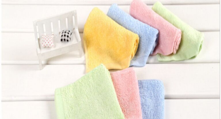 Plain mini bamboo towels