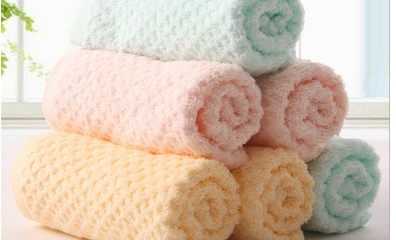 Wholesale High Quality Pure Color Plush Bamboo Microfiber Towel