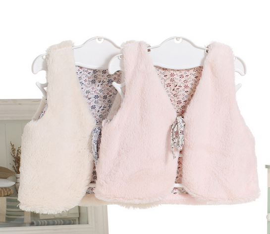pattern of children's vest, fashion imitation fur vest, knitting patterns sweater vest