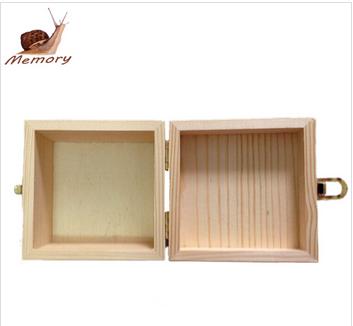 Unfinished wooden storage box