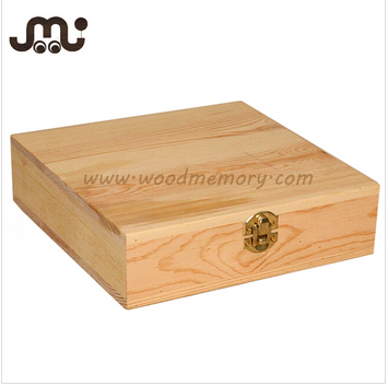 Customized pine unfinished wooden tool box