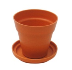 Bamboo flower pots with tray