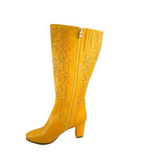 2015 New Style Leather Fat Women Boots