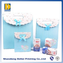 Popular Small Fancy Cute Velcro Closing Paper Gift Bags