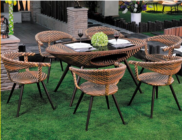 2015 patented product rattan furniture dining sets