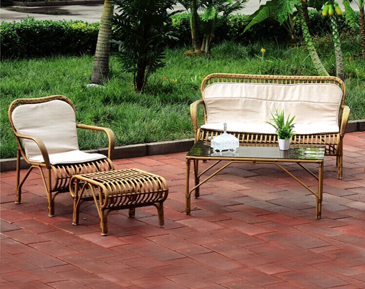 Outdoor furniture rattan sofa with high quality pe for Quality outdoor furniture